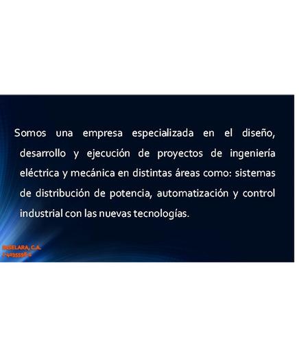 servicio de mantenimiento de plantas eléctricas, consumibles