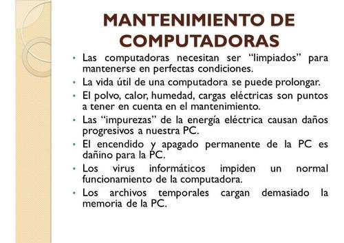 servicio de mantenimiento y reparación de laptop y pc