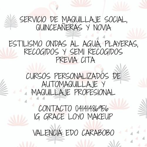 servicio de maquillaje profesional,estilismo y cursos person