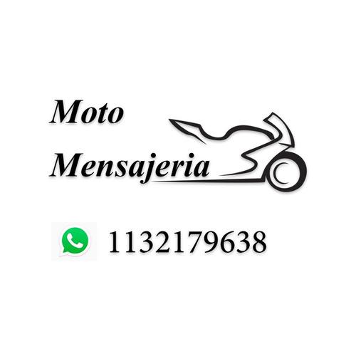 servicio de mensajería en moto capital y gba