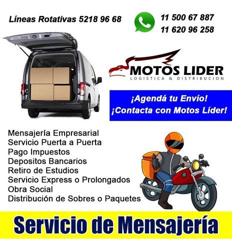 servicio de mensajería envíos desde 150 pesos caba / gba