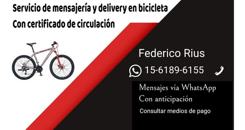 servicio de mensajería y delivery en c.a.b.a. y alrededores