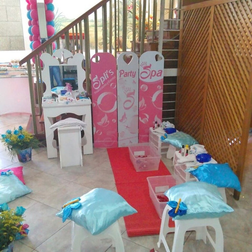 servicio de mini spa - mini peluqueria para evento infantil