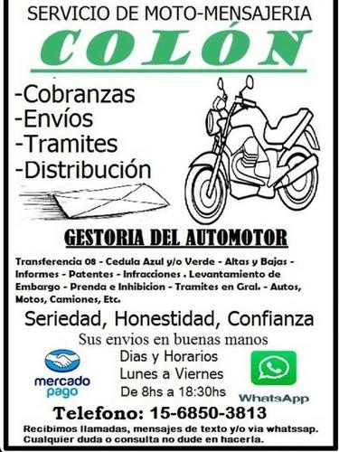 servicio de moto-mensajeria.