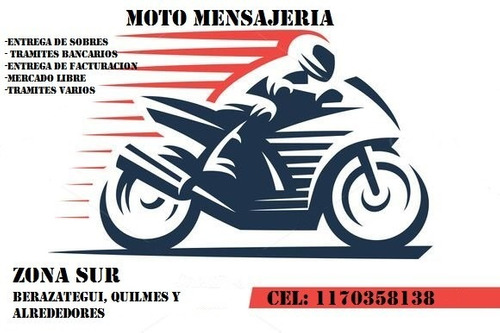 servicio de moto mensajeria zona sur