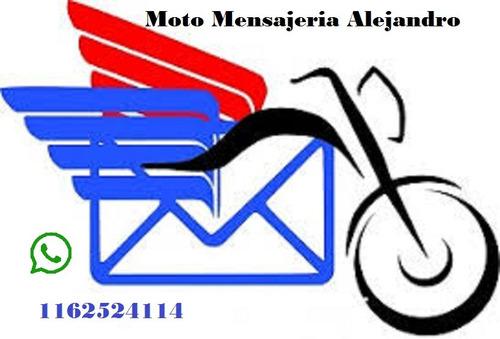 servicio de moto mensajeria zona sur. ezeiza ,canning .