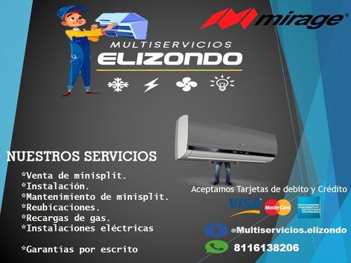 servicio de mtto,venta, instalación y reparación a minisplit