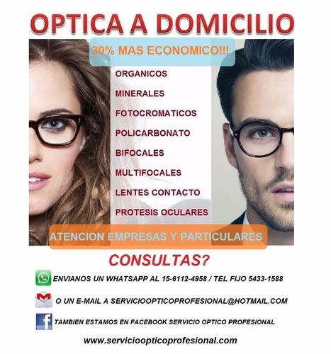 servicio de optica optico a domicilio anteojos lentes