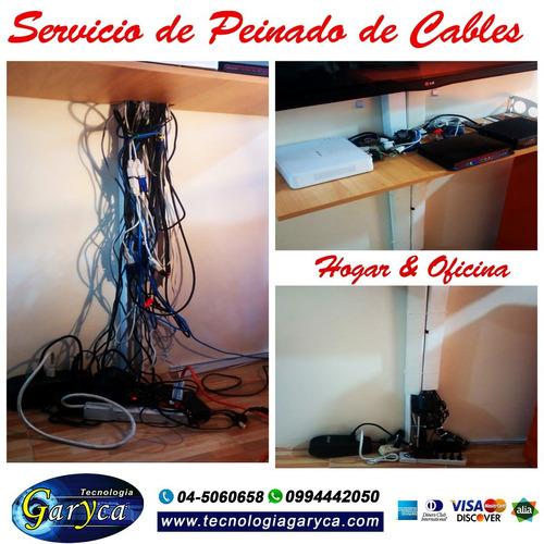 servicio de peinado de cables - oficina - negocio - hogar
