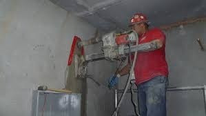 servicio de perforación de placa con core drill