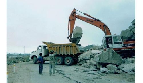 servicio de perforación, voladura y transporte de roca