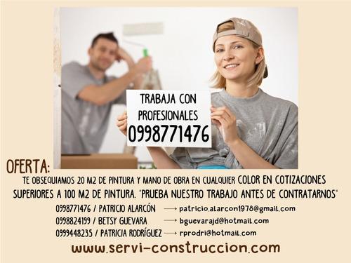 servicio de pintura e impermeabilización interior y exterior