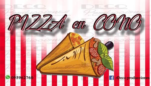 servicio de pizza en cono para fiestas y eventos