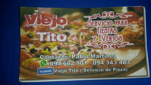 servicio de pizza y calzone,consulte por la promo brochette.