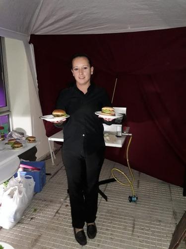 servicio de pizzas mozos asadores cumpleaños de 15 bodas