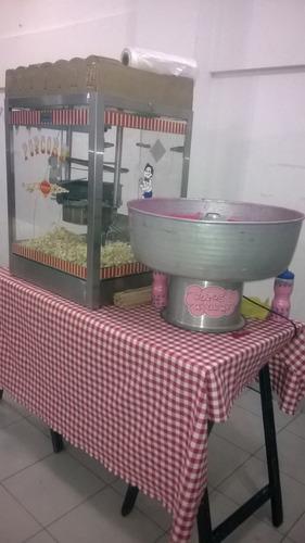 servicio de pochoclos y copos de azúcar