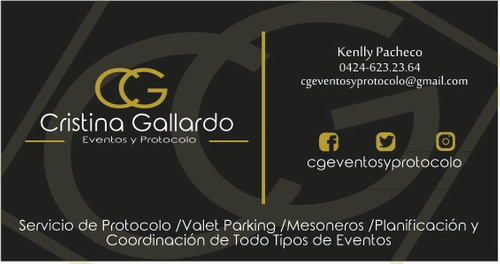 servicio de protocolo para eventos / wedding & event planner