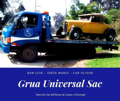 servicio de remolque de grúa y auxilio vial 24 horas en lima
