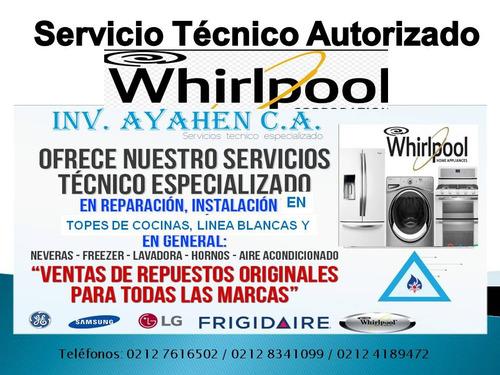 servicio de reparación cocinas teka frigilux whirlpool