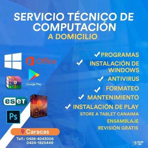 servicio de revisión , mantenimiento para pc/laptop/tablet c