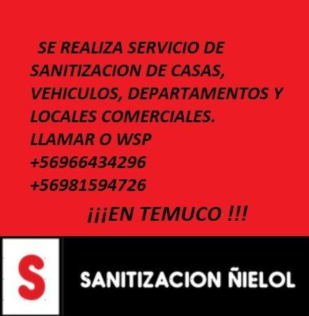servicio de sanitizacion de hogares, vehículos y empresas.