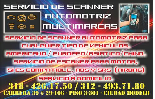servicio de scanner  automotriz multimarcas