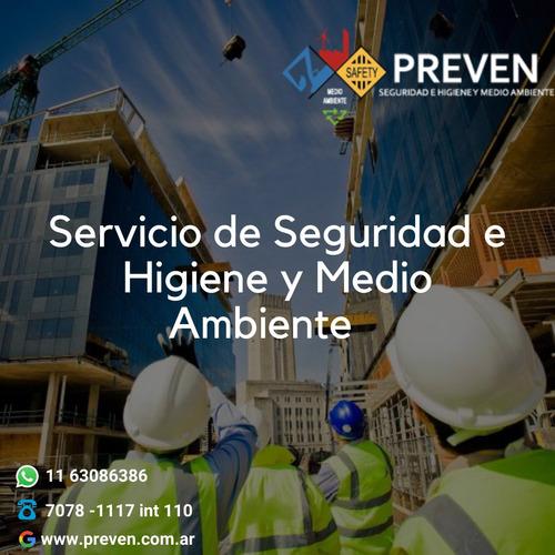 servicio de seguridad e higiene laboral o construcción