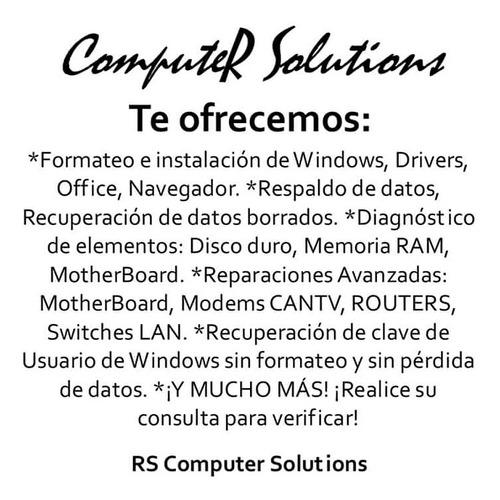 servicio de soporte técnico de pc's y laptops