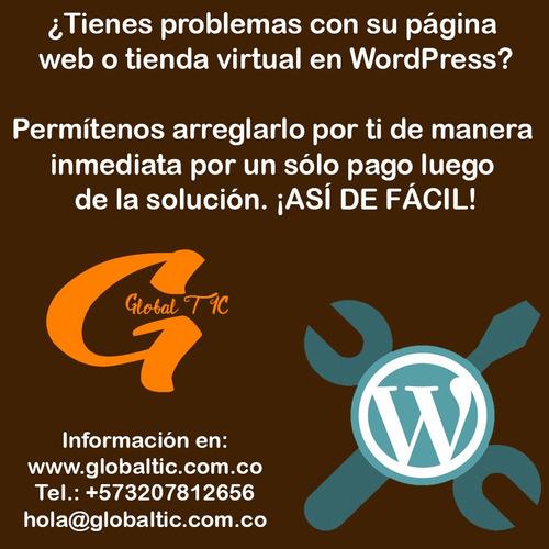servicio de soporte y desarrollo plataforma wordpress