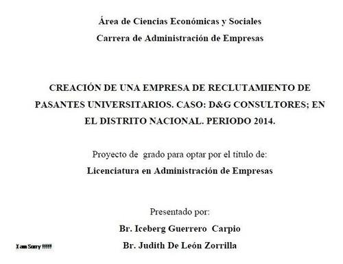 servicio de tesis, tesinas, monografias, ensayos etc
