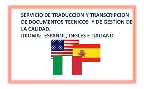servicio de traduccición de docuementos técnicos