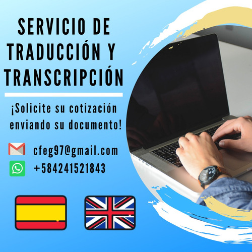 servicio de traducción esp - ing  o viceversa
