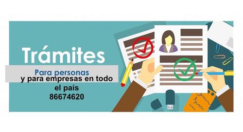 servicio de trámites, documentos, certificaciones y otros