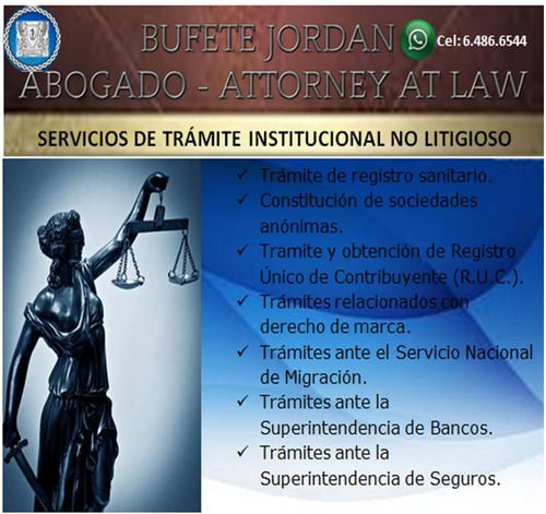 servicio de trámites institucionales no litigiosos