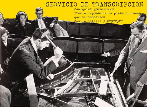 servicio de transcripción de partituras. (cualquier genero)