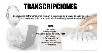 servicio de transcripción - todo tipo de documentos