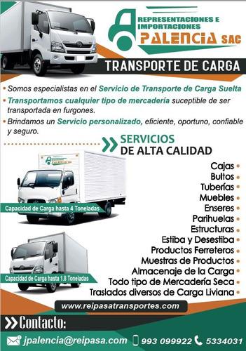servicio de transporte carga distribución flete en general