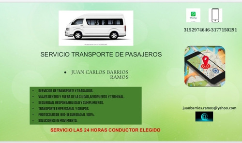 servicio de transporte dentro y fuera de la cuidad