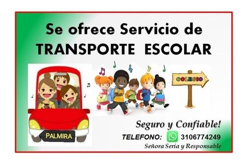 servicio de transporte escolar palmira