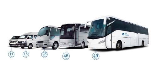 servicio de transporte personal, alquiler buses, custer, van