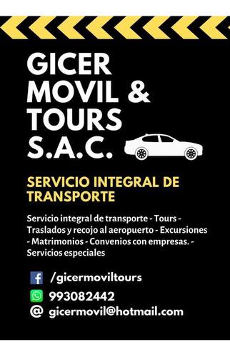 servicio de transporte personalizado y más