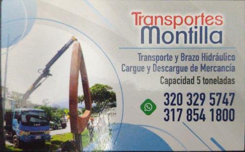 servicio de trasporte y brazo hidráulico