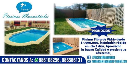 servicio de venta e instalación piscinas de fibra de vidrio