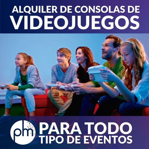 servicio de video juegos - realidad virtual, ps, xbox, wii,