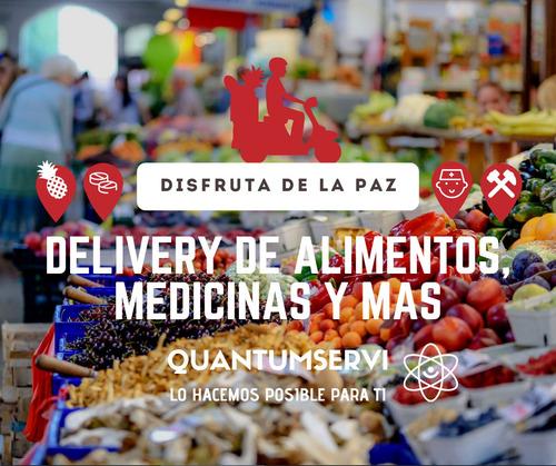 servicio delivery encomiendas de alimentos medicinas y más