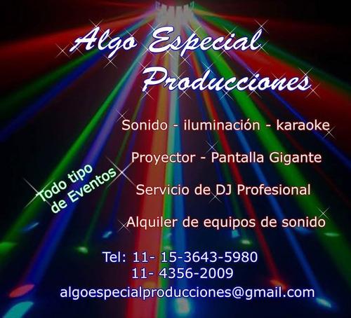 servicio dj profecional - alquiler de sonido e iluminacion