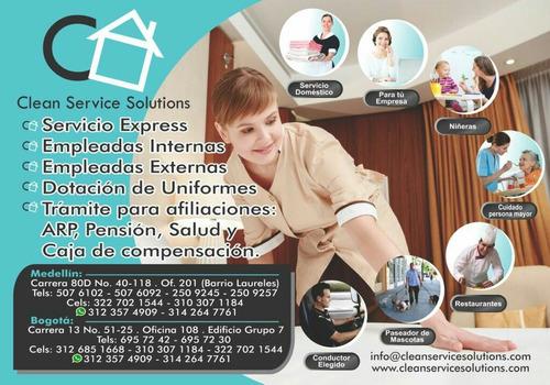 servicio domestico interno y externo
