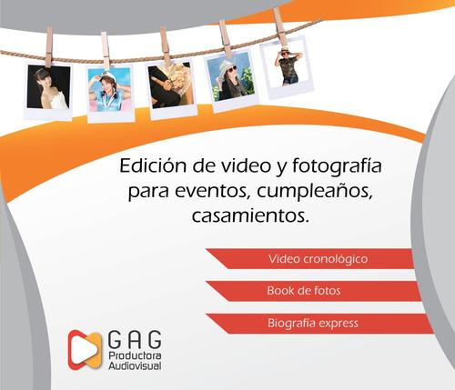 servicio edicion de video cronologicos video con fotos