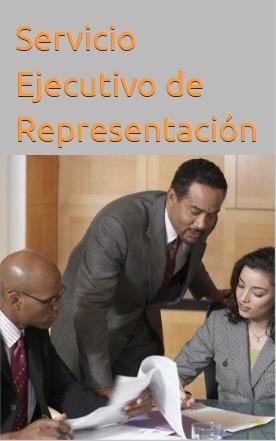 servicio ejecutivo de representación