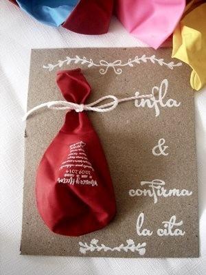 servicio estampado globos,tarjeta invitación personalizada